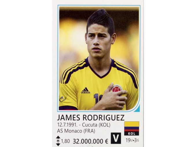 Kartička fotbalista James Rodriguez ( KOL )