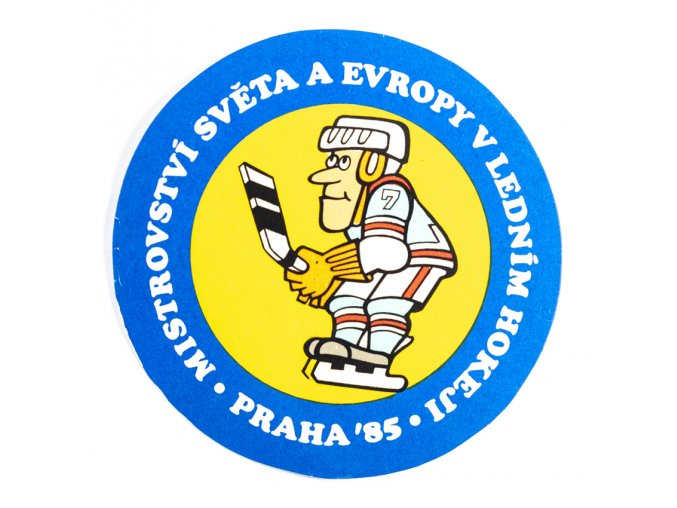 Samolepka 1985, MS Hokej Praha , hokejista 1