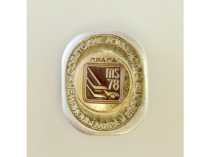 Odznak MS 1978 Hokej