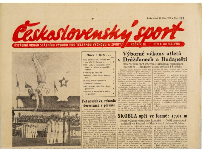 Noviny Československý sport, 1221955