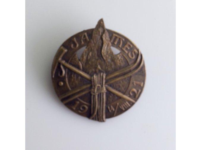 Odznak JAMES 1921 lyžování