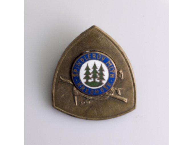 Odznak Špindlerův mlýn Krkonoše lyžování