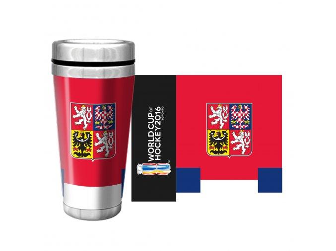 Team Czech Republic 2016 World Cup of Hockey Full Wrap Travel Mug