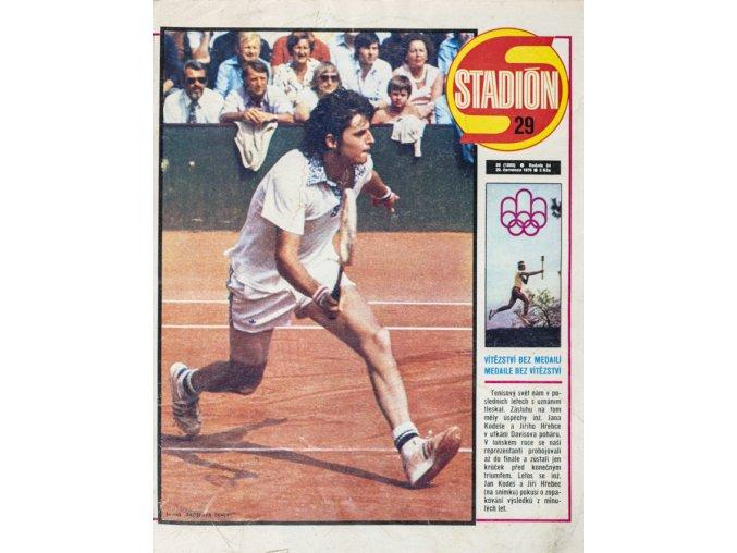 Časopis STADION, ročník XXVI, 20.VIII.1976, číslo 29