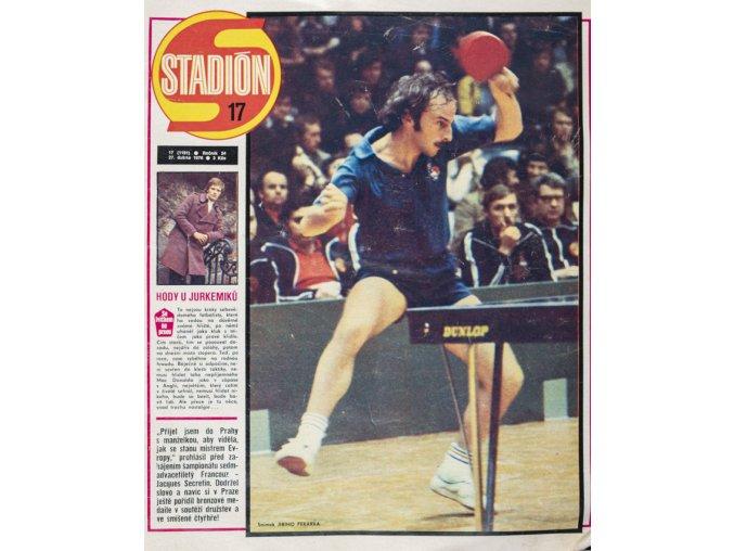 Časopis STADION, ročník XXVI, 27.IV.1976, číslo 17