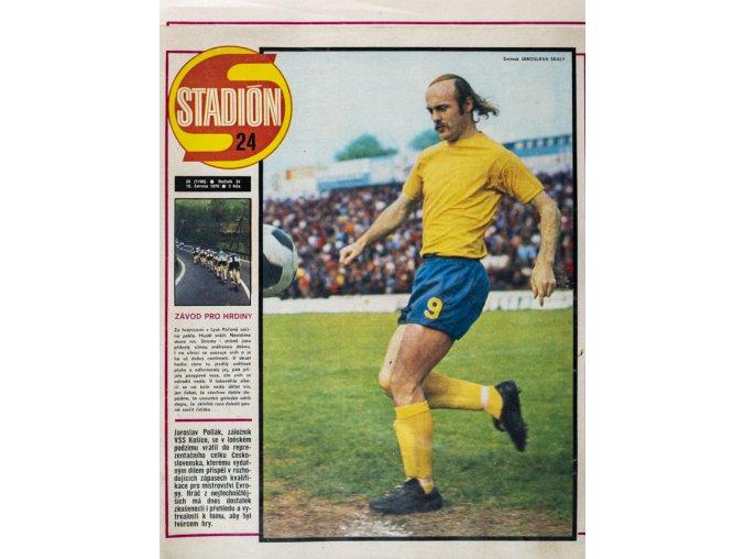 Časopis STADION, ročník XXVI, 15.VI.1976, číslo 24
