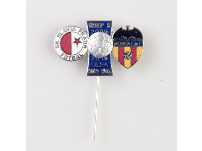 Odznak UEFA Europa League 2009 2010 VALENCIA C.F. vs.SK SLAVIA PRAHA blue