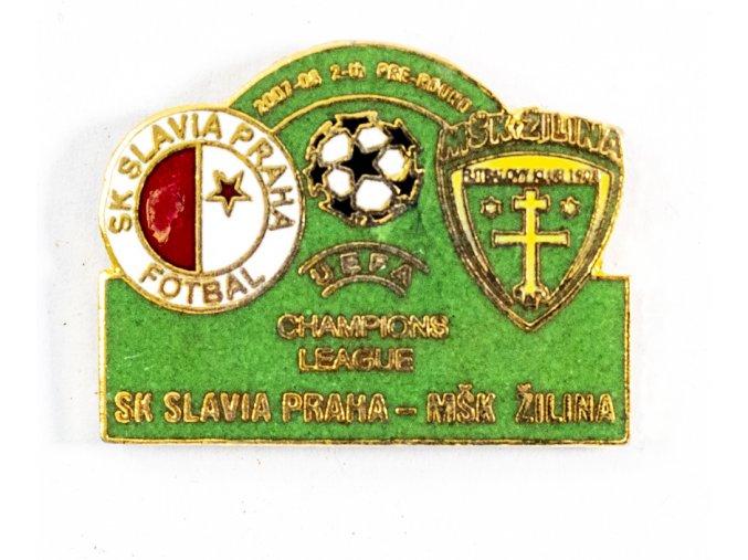 Odznak Champions league MŠK Žilina vs. SK Slavia Praha pre round 2007 2008 (1)