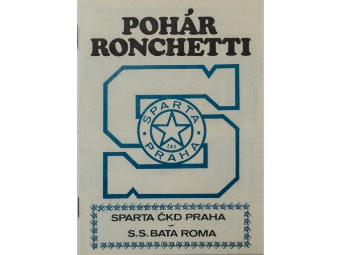 Program basket, pohár Ronchetti, Sparta Praha v. S.S. Bata Roma, 1984