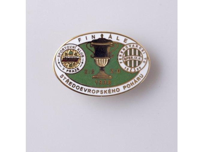 Odznak smalt 1938 FERENCVAROSI vs. Slavia finále středoevropského poháru