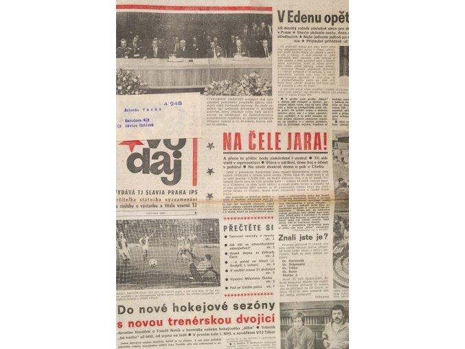 Zpravodaj TJ Slavia Praha, Červen 1987
