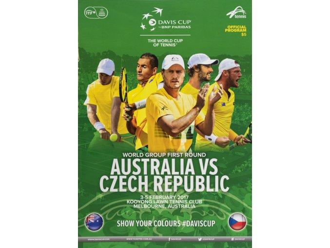 Program, Davis Cup , Australia v. Czech Republic, 2017