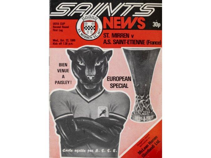Program UEFA, St. Mirren v. Saint Etienne, 1980