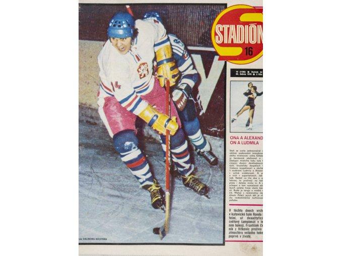 Časopis STADION, ročník XXII, 20.IV.1976, číslo 16