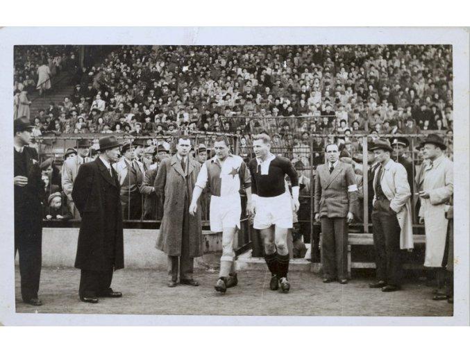 Pohlednice Slavia vs. SPARTA, 1934, Pepi Bican