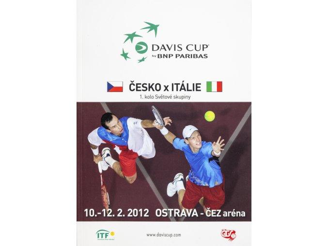 Official Program Davis Cup, CZ v. Itálie, 2012