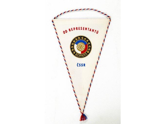Klubová vlajka OD representantů ČSSR v kopané, bez podpisů (1)