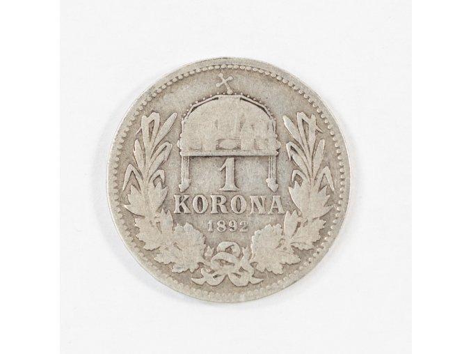 František Josef, 1 koruna, 1892 Ag (1)