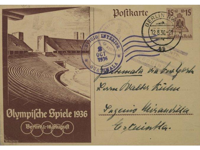 Dopisnice OH 1936 Berlín