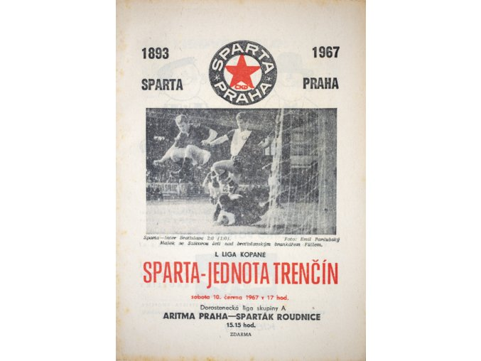 Program kopaná, Sparta Trenčín, 1967