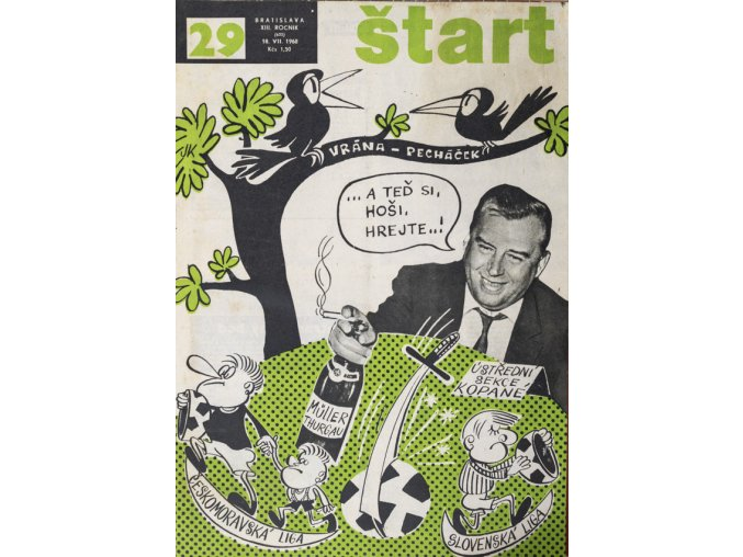 Časopis ŠTART, ročník XIII, 18. VII. 1968, číslo 29