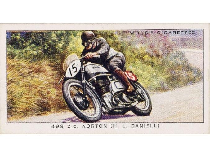 Kartička Motocyklový závod
