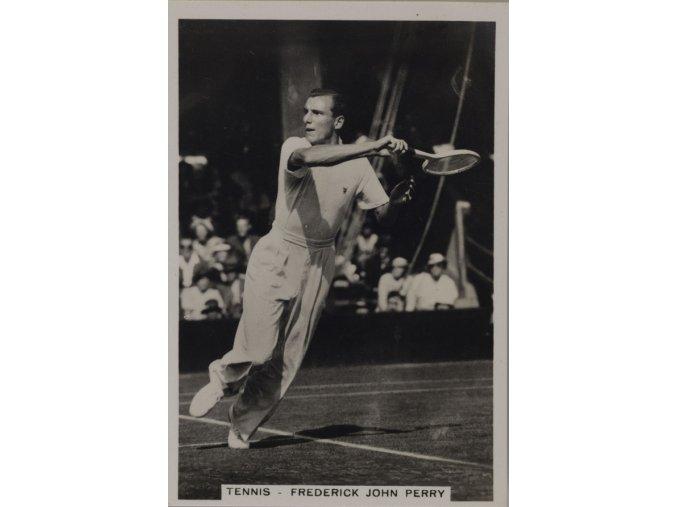 Kartička Tennis Frederick John Perry