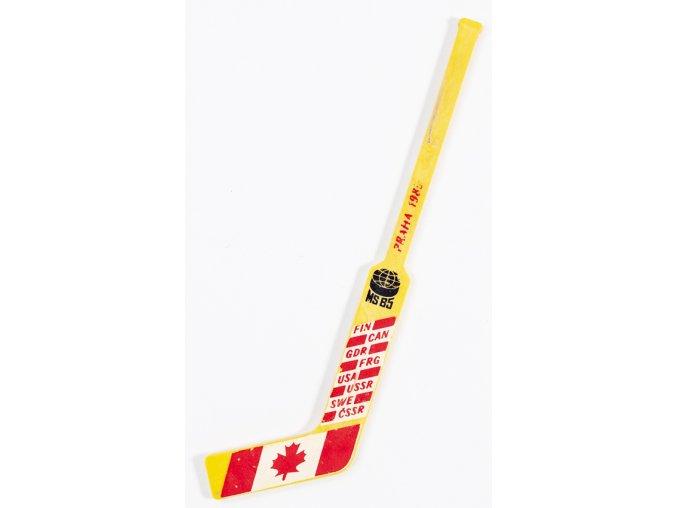 Hokejka plast, MS hokej 1985, Canada