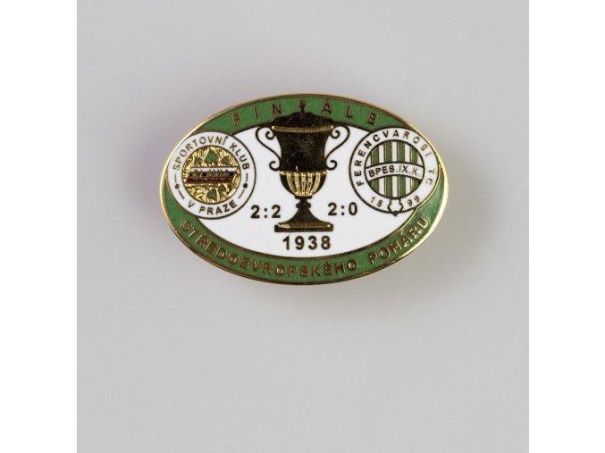 Odznak smalt 1938  FERENCVAROSI vs. Slavia  finále středoevropského poháru Green