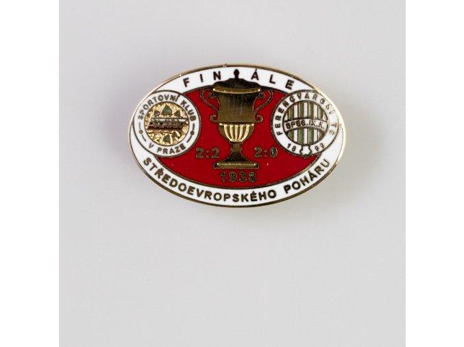 Odznak smalt 1938 FERENCVAROSI vs. Slavia finále středoevropského poháru W R