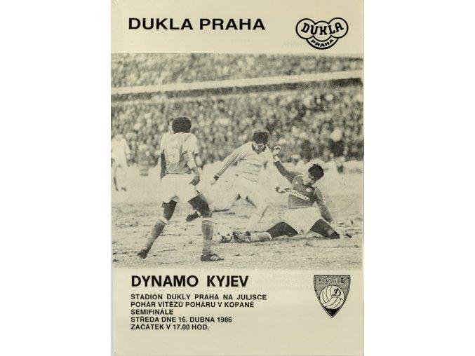 Program Dukla v.Dynamo Kyjev, 1986
