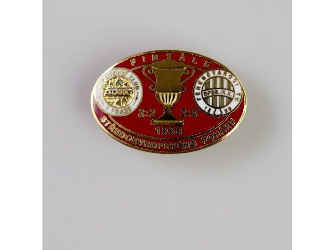 Odznak smalt 1938 FERENCVAROSI vs. Slavia finále středoevropského poháru red