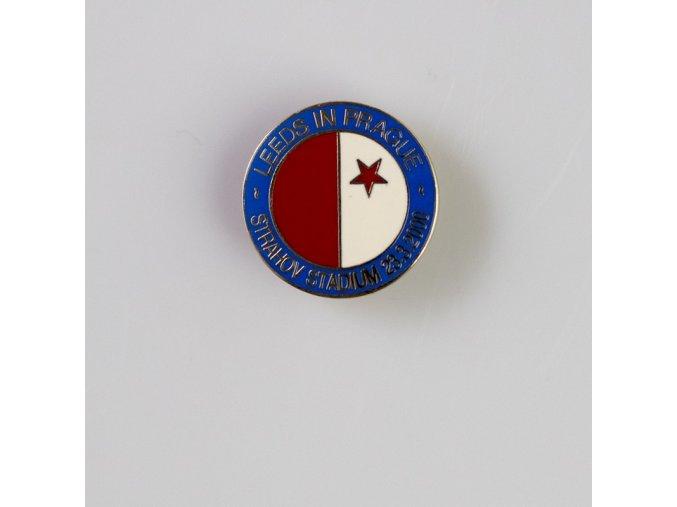 Odznak Leeds in Prague, Strahov Stadium 23.II.2000 , smalt, S.K.SLAVIA