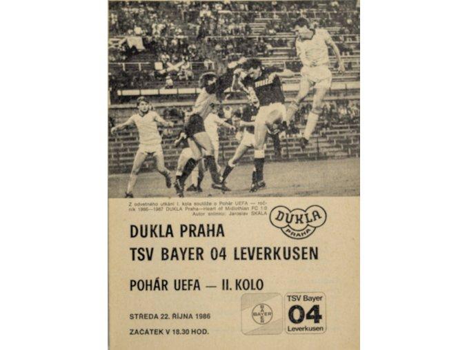 Program Dukla v. TSV Bayern O4 Leverkusen, 1986