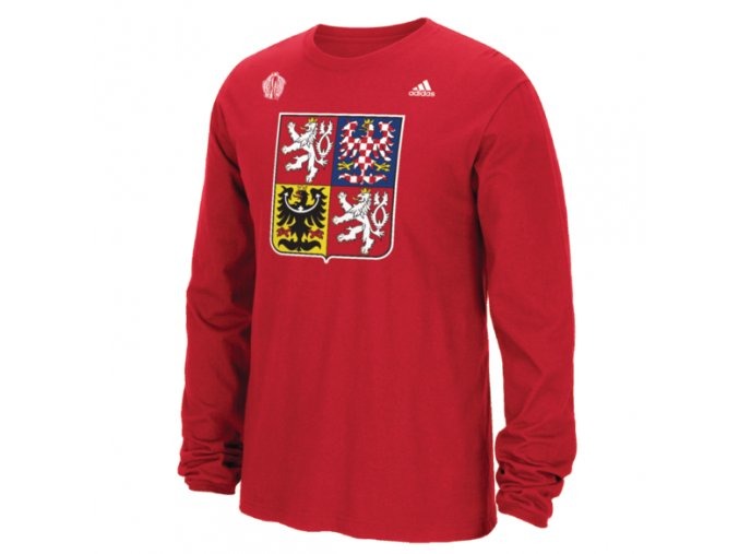 Team Czech Republic 2016 World Cup of Hockey Primary Logo Long Sleeved T-Shirt - Mens
