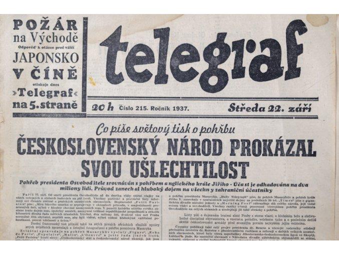 Noviny TELEGRAF, 22/1937