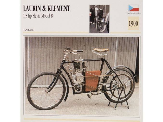 Kartička Laurina a Klement 1,5 hp Slavia Model B