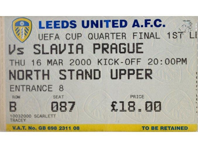 Vstupenka fotbal Leeds United vs. Slavia Prague II