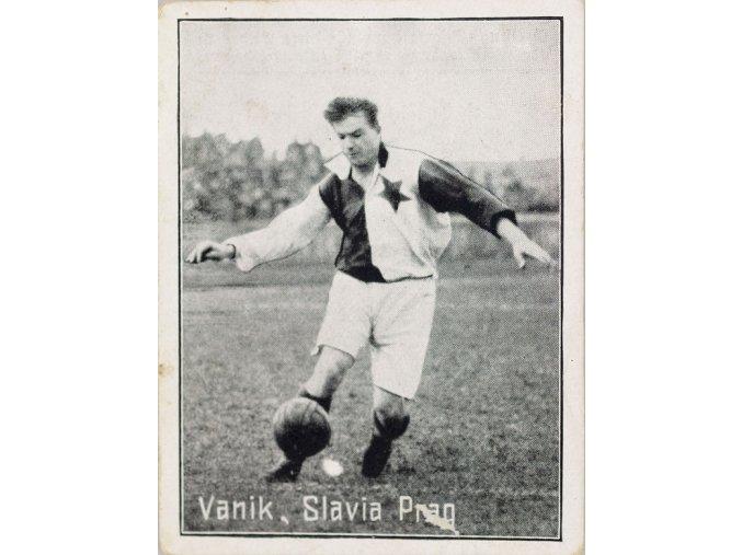 Kartička Serie fusballsport Vaník, Slavia Prag