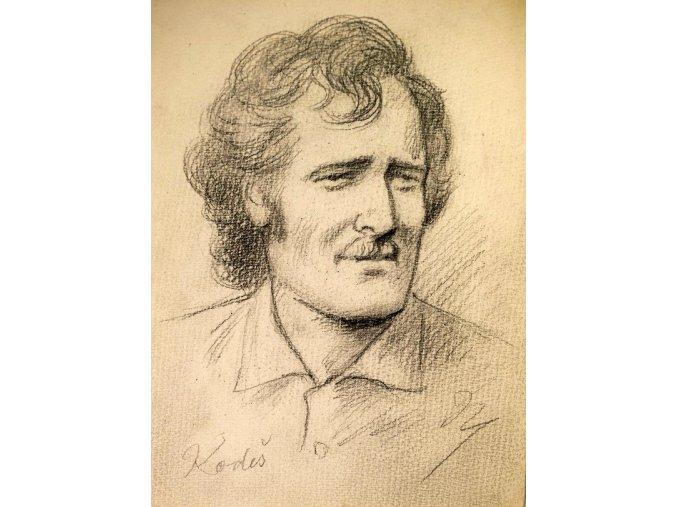 M. Niederle kresba Jan Kodeš