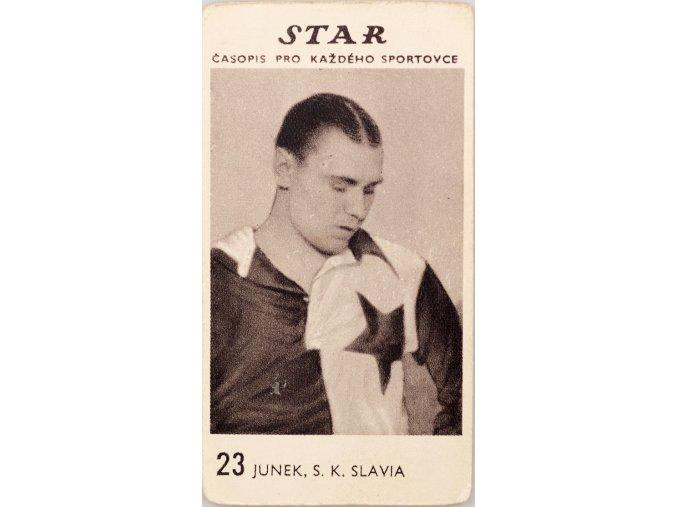 Kartička z časopisu STAR, 23 JUNEK , S.K.SLAVIA