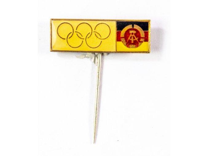 Odznak smalt, Olympic, DDR II