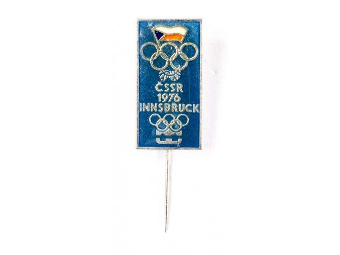 Odznak smalt, Olympic, ČSSR, Innsbruck, 1976, velký