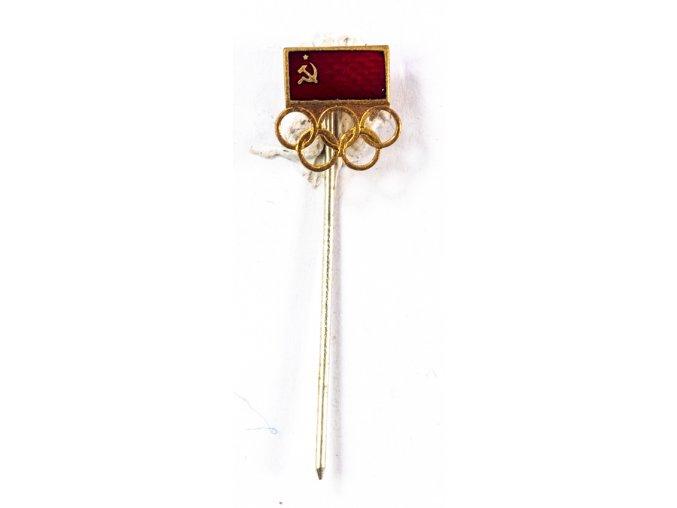Odznak smalt, Olympic, vlajka CCCP