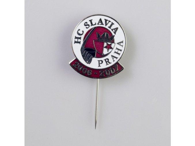 Odznak HC SLAVIA PRAHA sezona 2006 2007