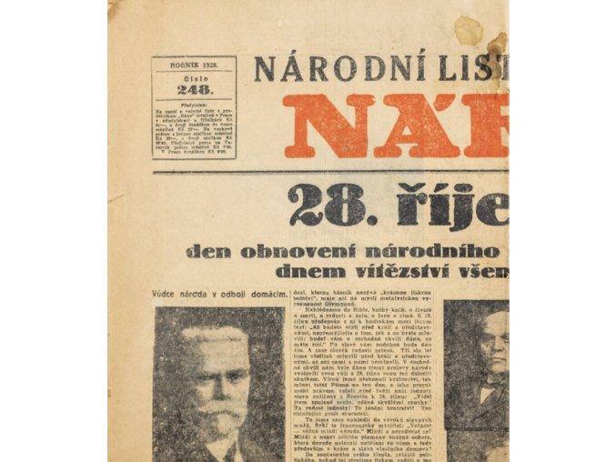 Noviny Národní listy Večerník, č. 248, 1928 (2)