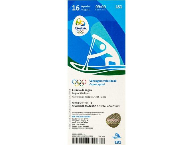 Vstupenka OG Rio 2016, Canoe sprint, 16