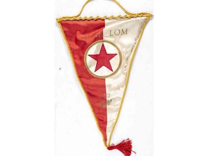 Vlajka klubová velká, Baník LOM, 1912 (1) 1