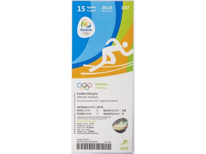 Vstupenka OG Rio 2016, Athletics, 15