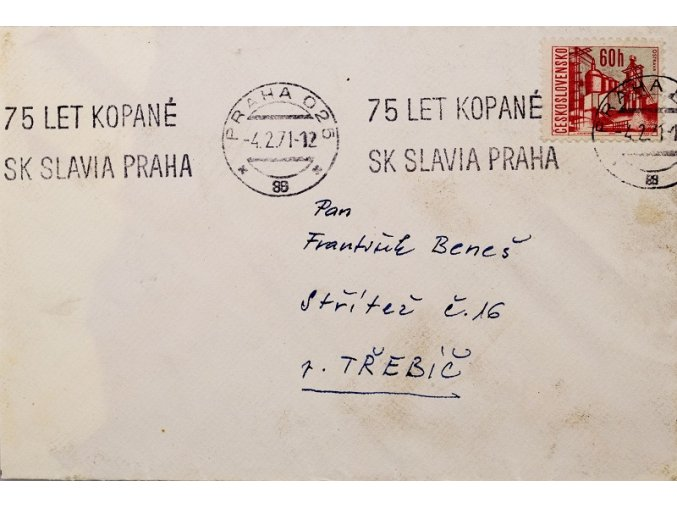 CELISTVOST 75 let kopané SK SLAVIA PRAHA III